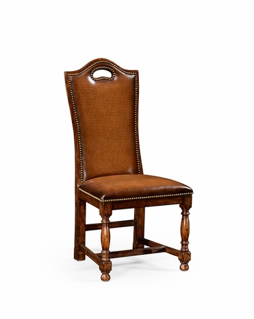 50000A Jonathan Charles Country Farmhouse Walnut Dining Side Chair