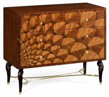 500022-ZEB Jonathan Charles Fine Furniture JC Modern - Icarus Feather Inlay Chest Of Drawers