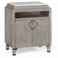 500065-GYO Jonathan Charles Fine Furniture JC Modern - Eclectic Greyed Oak Nightstand