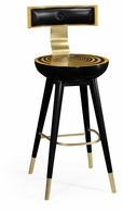 500085-BS-SWB Jonathan Charles Fine Furniture JC Modern - Op Art Swivel Bar Stool With Back Support
