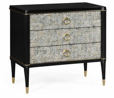 500096-EB003 Jonathan Charles Fine Furniture JC Modern - Eclectic Small Light Grey Eggshell Chest Of Drawers
