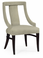 500157-PES-F001 Jonathan Charles Fine Furniture JC Modern - Belgravia Espresso Dining Side Chair, Upholstered In Mazo