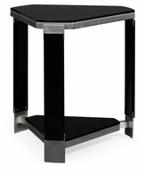 500167-BLG Jonathan Charles Fine Furniture JC Modern - Indochine Triangular Black Gloss Side Table