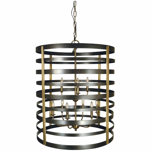 5098 Framburg Pastoral 9 Light Foyer Chandelier