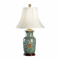 5196 Wildwood Porcelain Hand Painted Herald Hiding Lamp