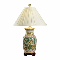 5236 Wildwood Porcelain Hand Painted Birds' Paradise Lamp