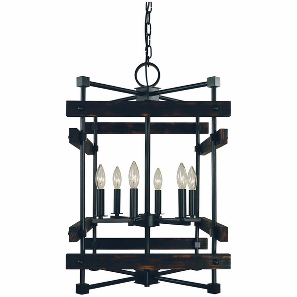 5276 Framburg Rustic Chic 6 Light Dining Chandelier
