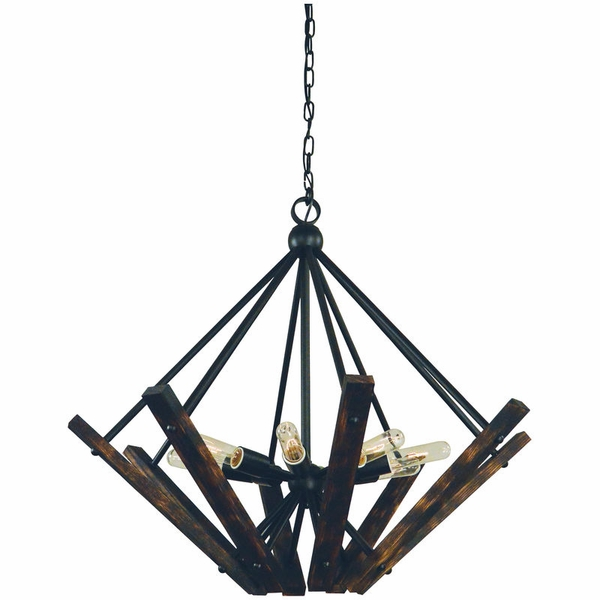 5288 Framburg Rustic Chic 8 Light Dining Chandelier