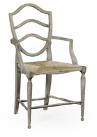 530000-AC-GYO Jonathan Charles Fine Furniture William Yeoward Collected - Country House Chic Bodiam Grey Oak Armchair