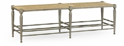 530001-GYO Jonathan Charles Fine Furniture William Yeoward Collected - Country House Chic Bodiam Grey Oak Bench