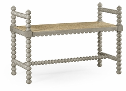 530008-CGR Jonathan Charles Fine Furniture William Yeoward Collected - Country House Chic Bellingham Country Grey Single Bench