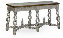 530013-GYO Jonathan Charles Fine Furniture William Yeoward Collected - Country House Chic Purbeck Grey Oak Console