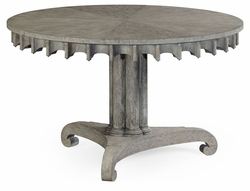 530023-GYO Jonathan Charles Fine Furniture William Yeoward Collected - Country House Chic Longwood Grey Oak Table