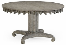 "530024-54D-GYO Jonathan Charles Fine Furniture William Yeoward Collected - Country House Chic 54"" Longwood Round-To-Oval Grey Oak Dining Table"