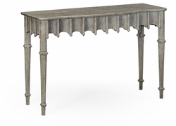 530025-GYO Jonathan Charles Fine Furniture William Yeoward Collected - Country House Chic Artaross Grey Oak Console