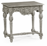 530028-GYO Jonathan Charles Fine Furniture William Yeoward Collected - Country House Chic Godwyn Grey Oak Side Table