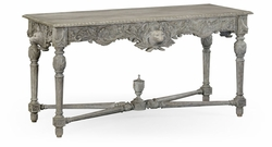 530029-GYO Jonathan Charles Fine Furniture William Yeoward Collected - Country House Chic Godwyn Grey Oak Console