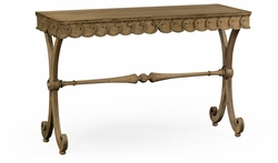 530045-WAO Jonathan Charles Fine Furniture William Yeoward Collected - Country House Chic Armadale Washed Oak Console