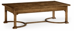 530066-KTO Jonathan Charles Fine Furniture William Yeoward Collected - Country House Chic Biddulph Kitchen Oak Coffee Table