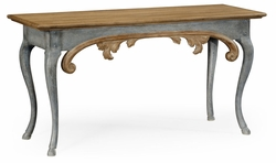 530074-VTO Jonathan Charles Fine Furniture William Yeoward Collected - Country House Chic Broxton Vintage Oak Console