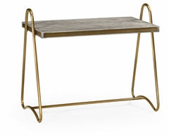 530142-GYO Jonathan Charles Fine Furniture William Yeoward Collected - Urban Cool Gennesso Grey Oak Side Table