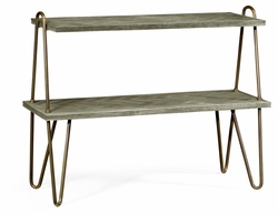 530181-GYO Jonathan Charles Fine Furniture William Yeoward Collected - Urban Cool Gennesso Grey Oak Console