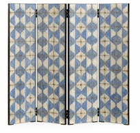 530198-PWB Jonathan Charles Fine Furniture William Yeoward Collected - Urban Cool Octavian White & Blue Screen Panels