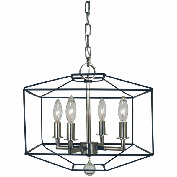 5304 Framburg Isabella 4 Light Dual Mount Chandelier