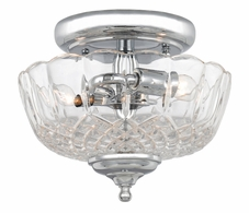 55-SF-CH Crystorama Crystorama 2 Light Polished Chrome Small Ceiling Mount
