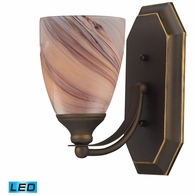 570-1B-CR-LED ELK Lighting Mix-N-Match Vanity 1-Light Wall Lamp in Aged Bronze with Creme Glass - Includes LED Bulb