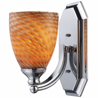 570-1C-C ELK Lighting Mix and Match Vanity 1-Light Wall Lamp in Chrome with Cocoa Glass