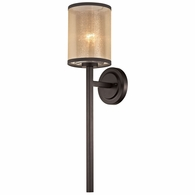57023/1 ELK Lighting Diffusion 1-Light Wall Lamp in Oiled Bronze with Organza and Mercury Glass