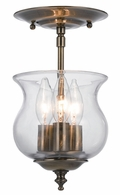 5715-AB Crystorama Ascott 3 Light Brass Semi-Flush