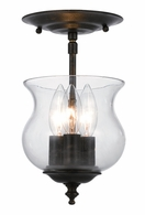 5715-EB Crystorama Ascott 3 Light Bronze Semi-Flush
