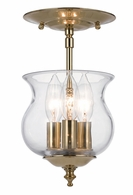 5715-PB Crystorama Ascott 3 Light Polished Brass Semi-Flush
