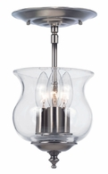 5715-PW Crystorama Ascott 3 Light Pewter Semi-Flush