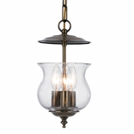5717-AB Crystorama Ascott 3 Light Antique Brass Lantern