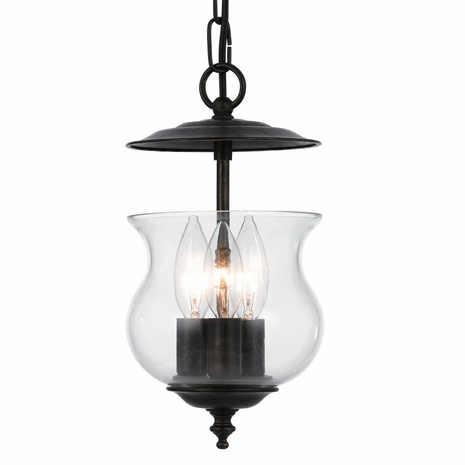 5717-EB Crystorama Ascott 3 Light English Bronze Lantern