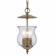 5717-PB Crystorama Ascott 3 Light Polished Brass Lantern