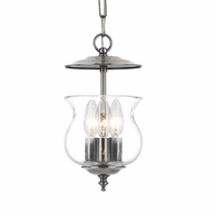5717-PW Crystorama Ascott 3 Light Pewter Lantern