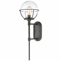 57291/1 ELK Lighting Girard 1-Light Sconce in Charcoal with Clear Glass