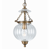 5781-AB Crystorama Crystorama 1 Light Brass Glass Pendant I