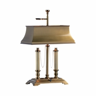 584 Wildwood Solid Brass Antique Patina Classic Desk Lamp