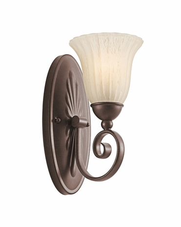 5926TZ Builder Transitional Willowmore Wall Sconce 1Lt (tannery bronze)