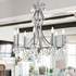 5938-CH-CL-MWP Crystorama Cedar 8 Light Polished Chrome Chandelier