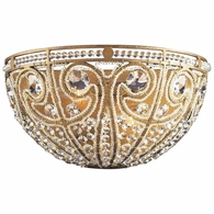 5970/2 ELK Lighting Elizabethan 2-Light Sconce in Dark Bronze with Crystal
