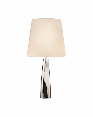 6105.35 Sonneman Virage Contemporary Table Lamp with Polished Nickel Finish
