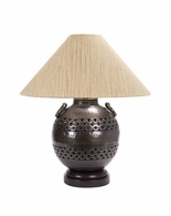 65023-2 Frederick Cooper Hand Hammered Sphere Bronze & Brass Finish Darius Lamp
