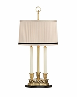 65046-2 Frederick Cooper Triple Candle Table Lamp Antique Brass Thea Lamp
