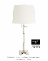 65063 Frederick Cooper Brass Nickel Plated Julian Lamp